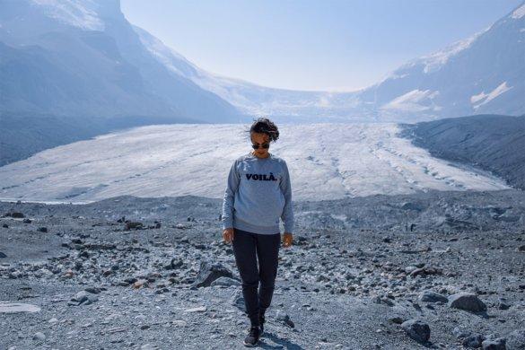 Icefields Parkway dans les rocheuses au Canada