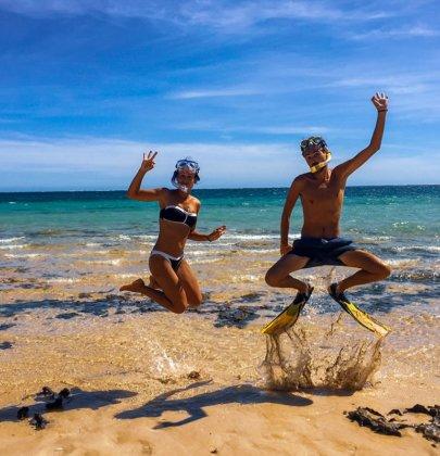 Ningaloo Reef et sa barrière de corail dans le Western Australia en Australie