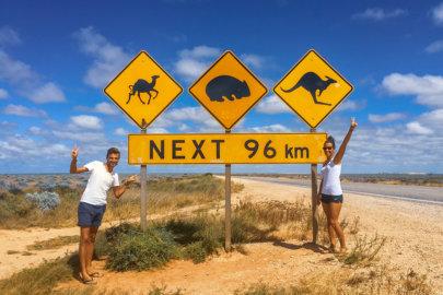 Nullarbor Road en Australie