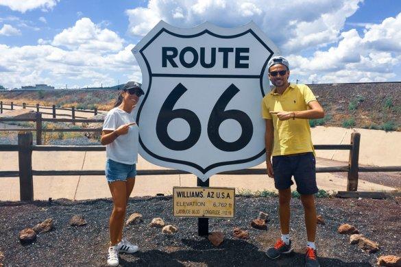 La  mythique route 66 dans l'ouest américain