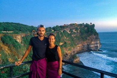 Péninsule de Bukit sur l'île de Bali en Indonésie