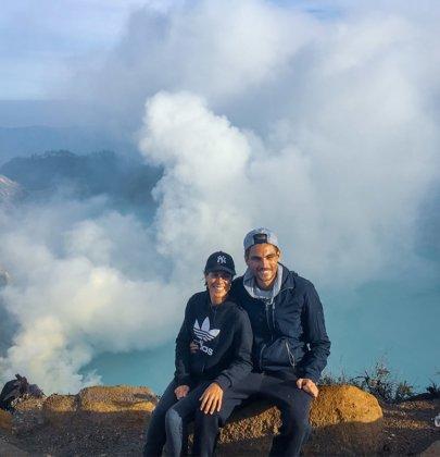 Le volcan Kawah Ijen sur l'île de Java en Indonésie