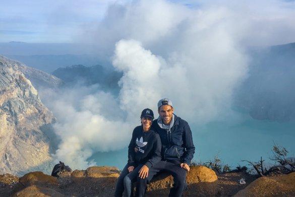 Le volcan Kawah Ijen sur Java en Indonésie