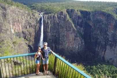 La route des cascades dans la région Queensland en Australie