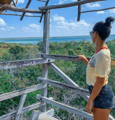 La biosphère de Sian Ka'an sur la péninsule du Yucatan au Mexique