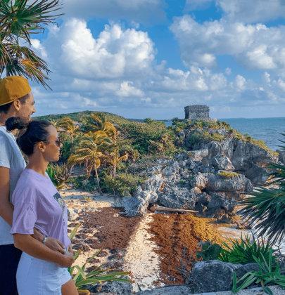 Tulum sur la péninsule du Yucatan au Mexique